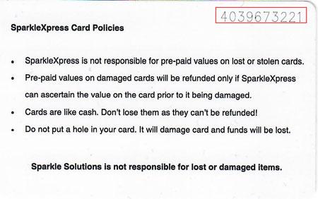 SparkleXpress - Laundry Card Payment 4